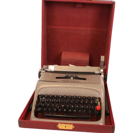 red olivetti valentine typewriter