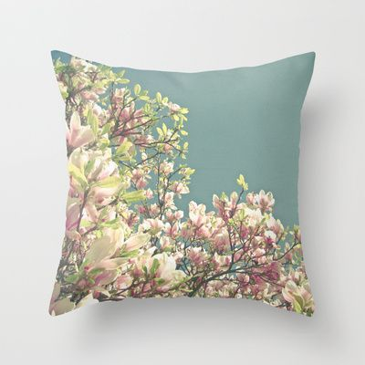 Throw Pillows For Couch Pinterest : Magnolia in Bloom Throw Pillow Pillows Pinterest