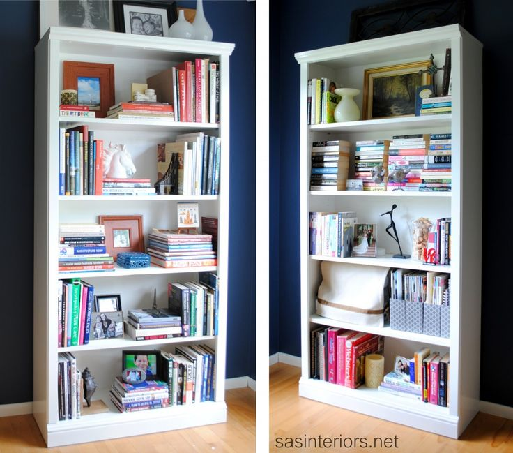 Styled Bookcases, painting laminate