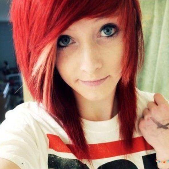 awesome red scene hair hair pinterest