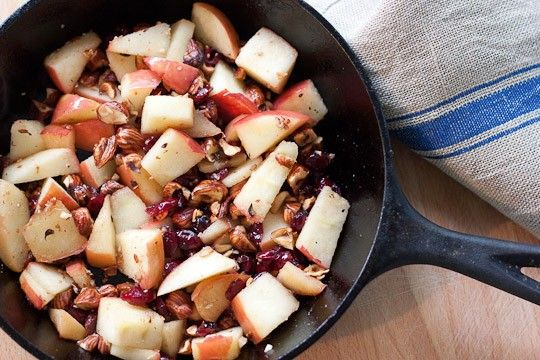 Apple Farro Breakfast Bowl with Cranberries and Hazelnuts | Recipe