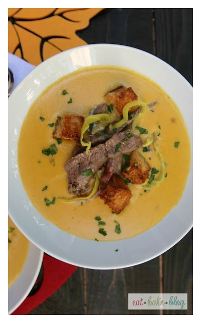 Cheesesteak and Ale Soup | EatBakeBlog Creations | Pinterest