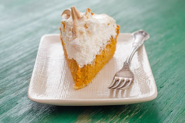 Sweet Potato Pie with Marshmallow-Meringue Topping by Pink Parsley
