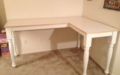 Corner crafting table craft room storage ideas pinterest for Corner craft table with storage