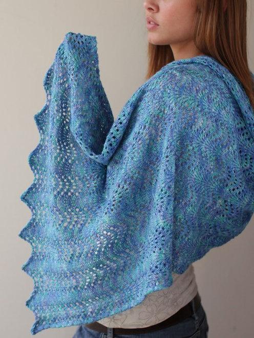 Heritage fiber publications joan sheridan lakeshore shawl