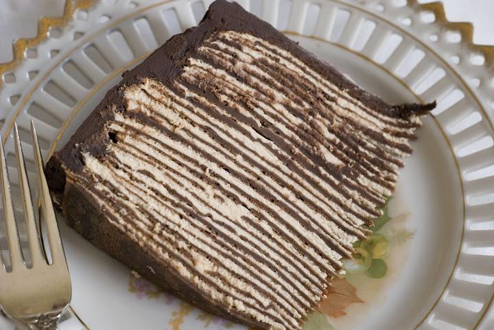 Dark Chocolate Crepe cake | Yum Yum Yummy | Pinterest