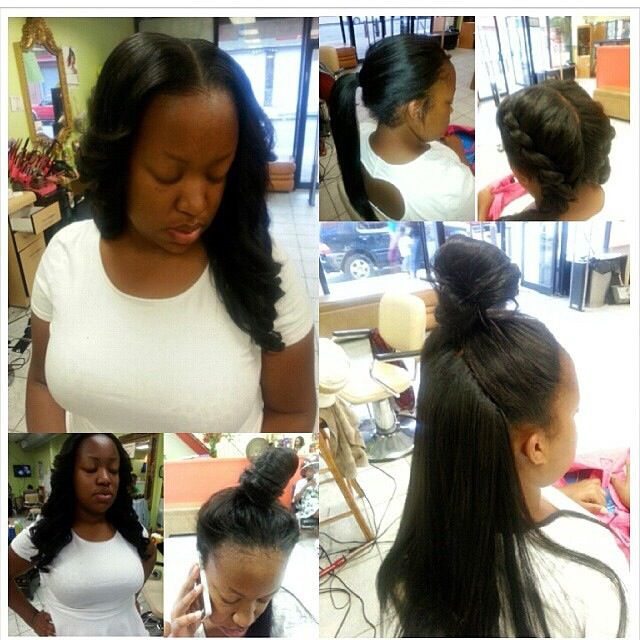 Crochet Straight Hair Vixen : just love my Vixen sew in...styled by Jamila Cute Styles ~ Long Hair ...