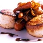 Simply Ming Seared Scallops with Glazed Carrots And Onion Compote ...