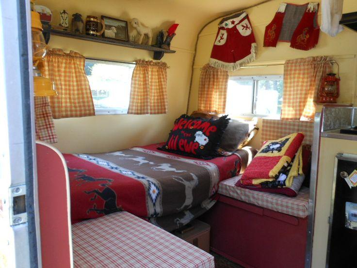 Cute trailer interior A Cozy Cottage on Wheels Pinterest