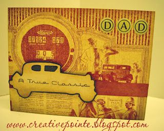 father's day card car template