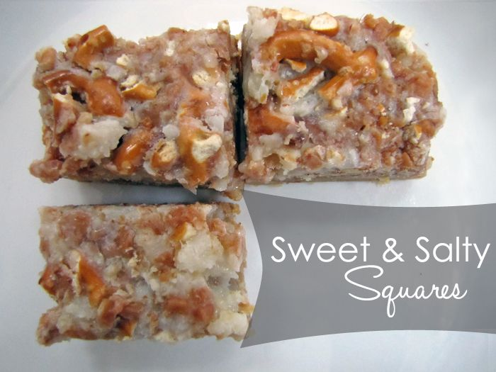 Sweet & Salty Squares - Imprintalish | Sweets | Pinterest