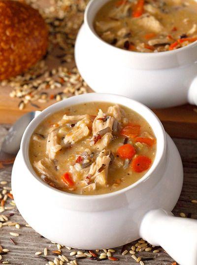 Chicken Shiitake And Wild Rice Soup Recipe — Dishmaps