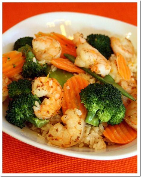 Spicy Orange Shrimp Stir-Fry | Healthy living/recipes | Pinterest