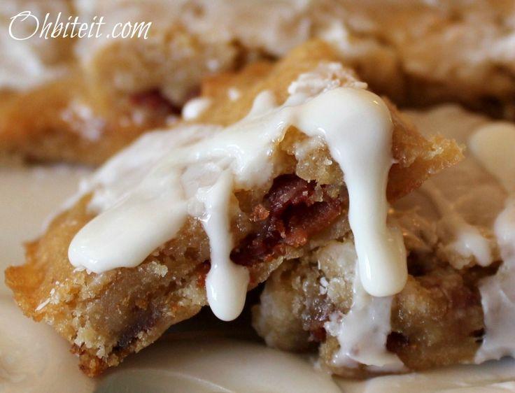 Sticky Maple Bacon Bars ~ w/ Kentucky Bourbon Glaze...OMGoodness ...