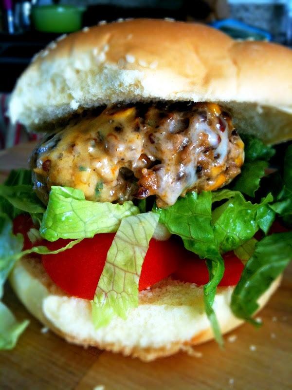 Chipotle-Corn Turkey Burgers | Everything Hamburgers | Pinterest