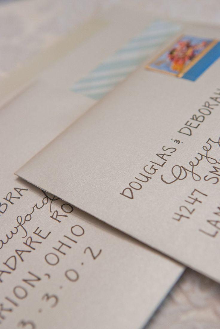 Custom Handlettered Wedding Calligraphy Envelope