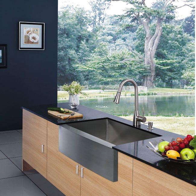 Black Stainless Steel Farmhouse Sink : single basin farmhouse sink For the Kitchen Pinterest