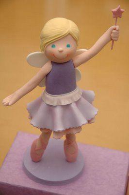 the cupcake gallery - kids' birthday - fairy ballerina cake topper figurine
