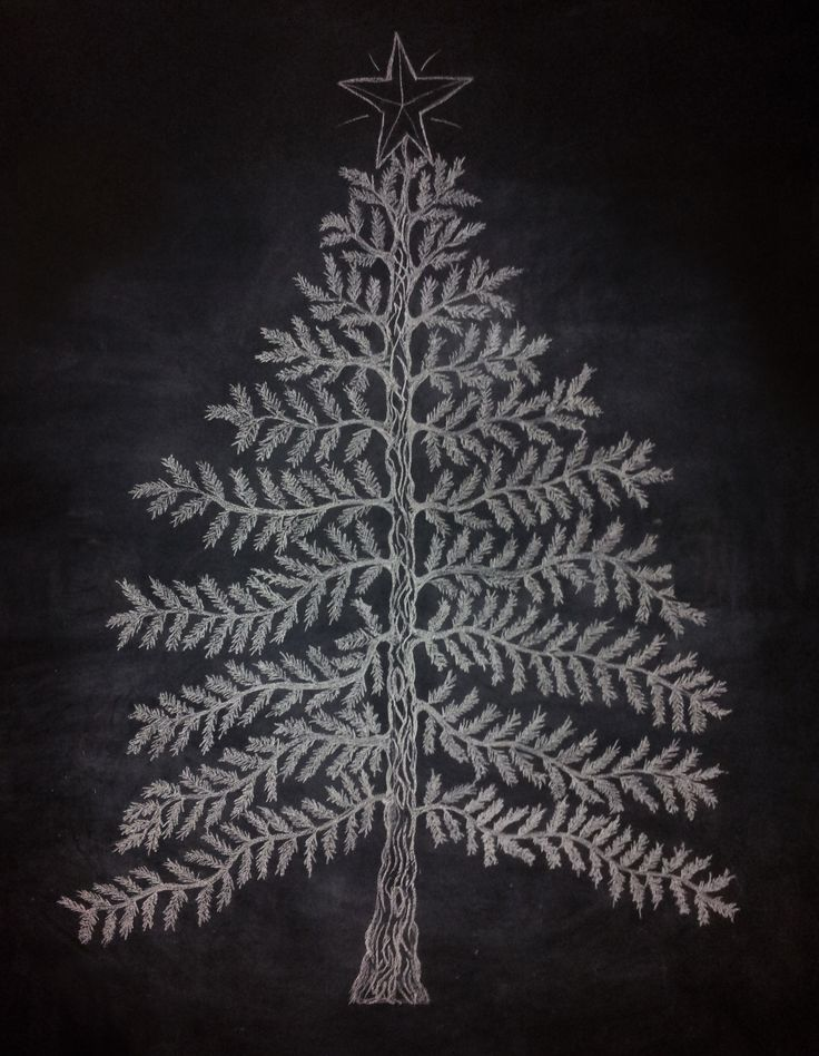 My Christmas Tree: Chalkboard Wall | Holidays | Pinterest
