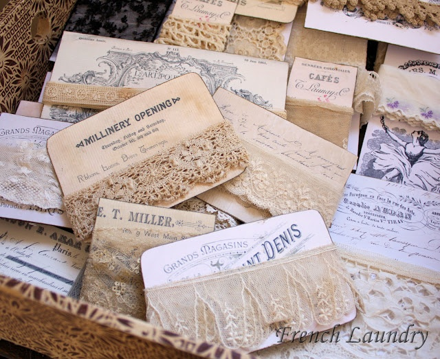 Store lace on these wonderful cards - downloaded from The Graphics Fairy.