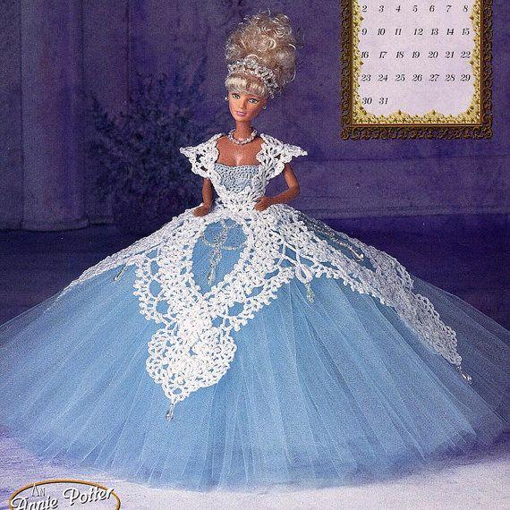 Annies Attic Crochet : Annies Attic Royal Ballgowns Crochet Pattern, Miss March 1997, for Ba ...