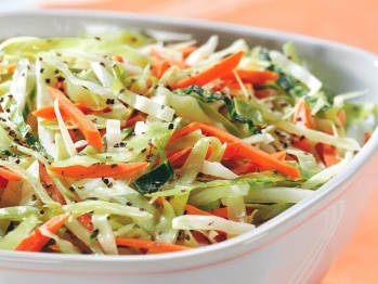 Cabbage and Carrot Slaw using CSA cabbage and carrots