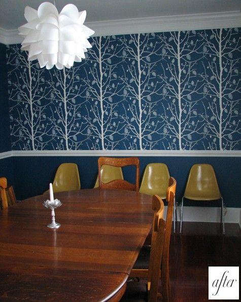 chair rail bold wallpaper decorating Pinterest : 31785cd50cd8f2f6448d483dfaac911a from pinterest.com size 475 x 596 jpeg 62kB