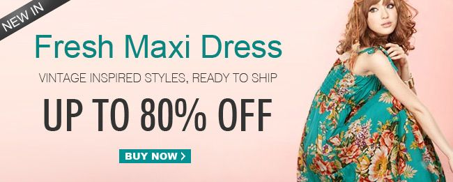 New in Fresh Maxi Dress Up to 80% Off