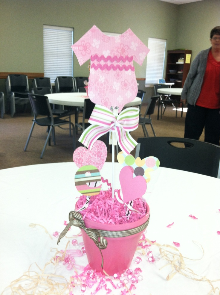 Baby shower centerpiece baby girl baby shower ideas for Baby shower decoration for girl