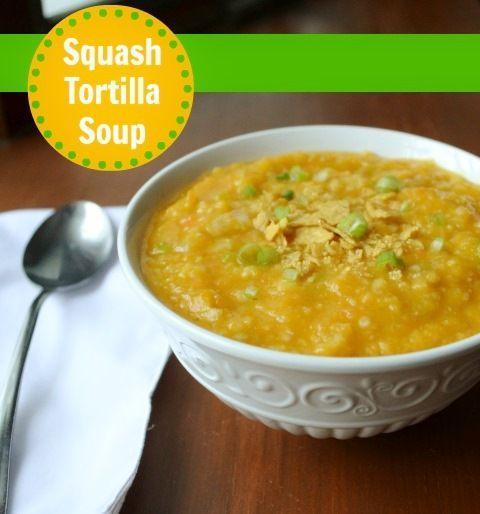Squash Tortilla Soup | Real Food Real Deals #healthy #recipe #vegan