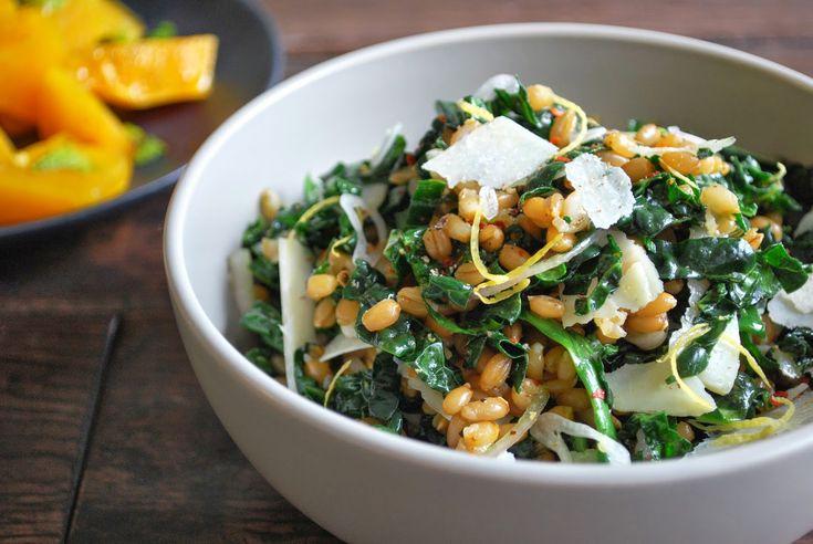 wheat berry, rye & kale salad | Recipes | Pinterest