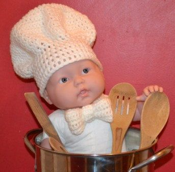 Crochet Pattern Chef Hat : Crochet Chef Hat & Bow Tie Photo Prop