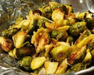 roasted brussels sprouts and caramelized green apples | Real Healthy ...