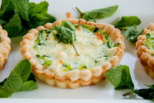 Zucchini, Feta & Mint Quiche | food | Pinterest