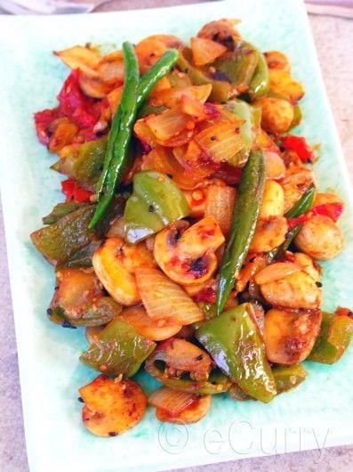 Mushroom Pepper Fry   Everyday Indian Cooking   Pinterest