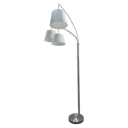 threshold 3 arm arc floor lamp homie pinterest. Black Bedroom Furniture Sets. Home Design Ideas