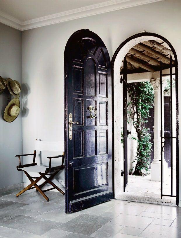 Glossy Arched Black Door Libraries Architecture Pinterest