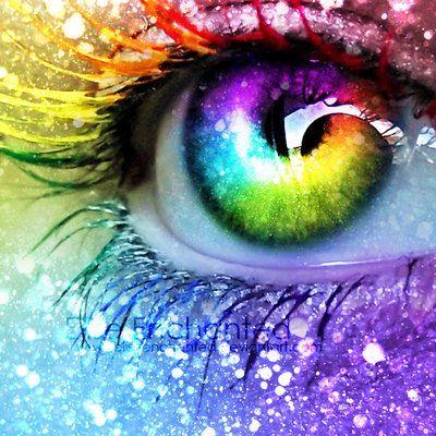 Rainbow Eye Art   BLAZE OF COLOUR   Pinterest