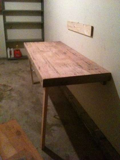 Fold down table for garage | Home Stuff | Pinterest