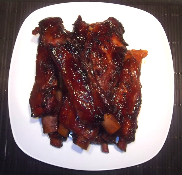 ... glaze barbecue braised country spareribs with beer and mustard glaze