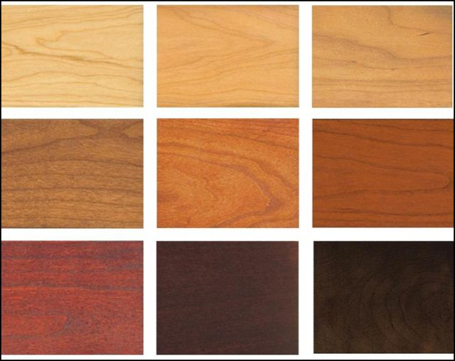 Cherry Wood Stain Finish Samples 191 Dream Decor