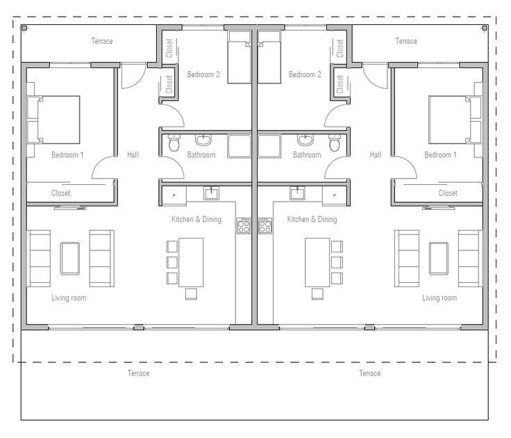 Duplex House Plan Ch265d House Plan Beach House Style
