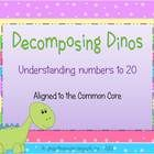 Students will enjoy practicing numbers to 20 with this cute dinosaur game.  Two - four players take turns selecting a card with numbers made up of ...