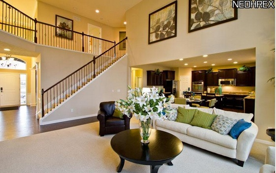 Two story great room great rooms pinterest for 2 story house inside