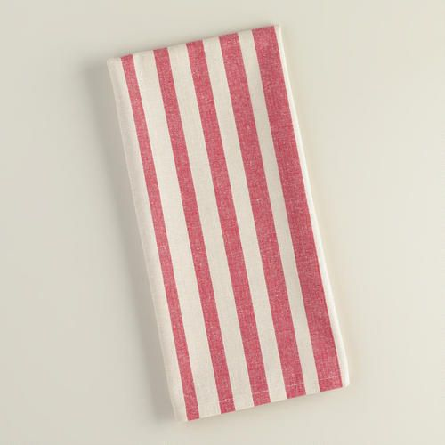 One of my favorite discoveries at WorldMarket.com: Red Ombre Stripe Kitchen Towel