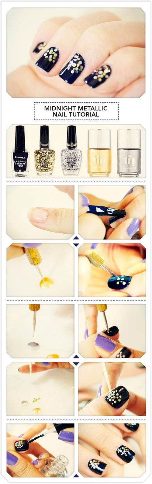 Sparkle! Simple new year nail art tutorial- even for beginners this is simple and easy!