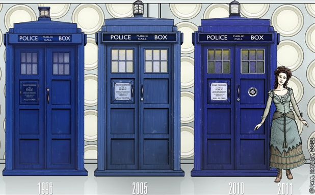 The Tardis Through The Years