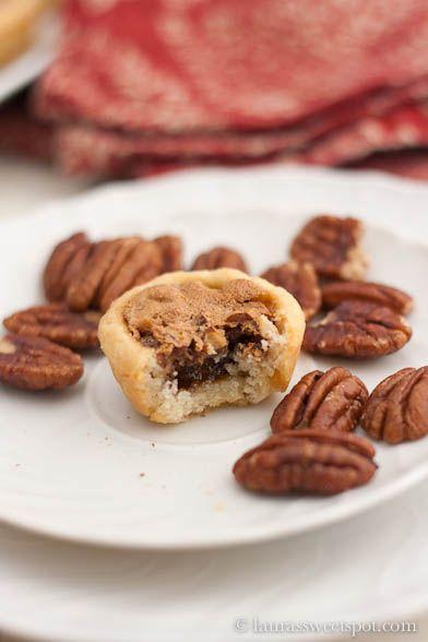Pecan Tassies! Little, bite-sized pecan pies...