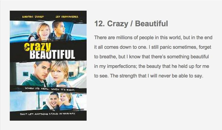 crazy beautiful movie quotes on love pinterest