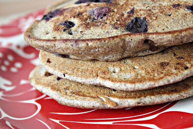 Hazelnut Pancakes With Roasted Rhubarb Cardamom Compote Recipes ...